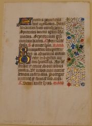 MS 2934 Book of Hours leaf (r). Photo by Cynthia Turner Camp.