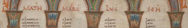Eusebian Canons page 3, fol. 7v
