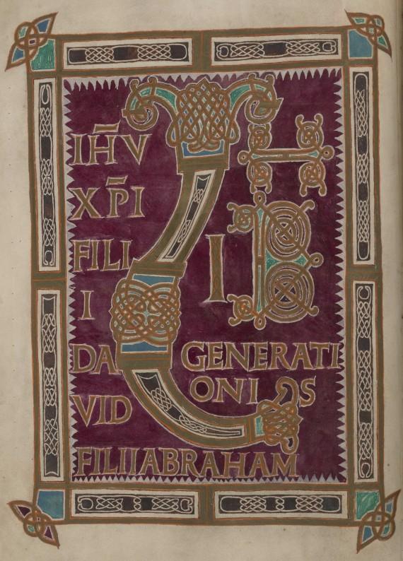 Eusebian Canons page 5, fol. 19v, Liber Initial